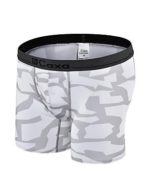 Corrida Cuecas Boxers Homens Respirável / Secagem Rápida / Compressão Poliéster Corrida Esportivo Stretchy Apertado Roupas para Lazer