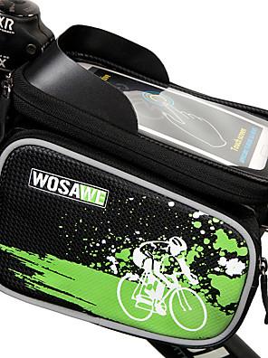 תיק אופניים 2LLטלפון נייד תיק / תיקים למסגרת האופנייםעמיד למים / מוגן מגשם / רוכסן עמיד למים / חסין זעזועים / ניתן ללבישה / מסך מגע /