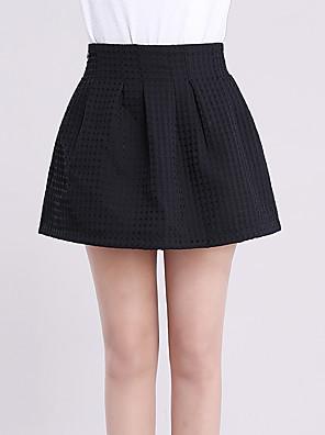 Overige-Micro-elastisch-Sexy / Eenvoudig-Boven de knie-Vrouwen-Rokken