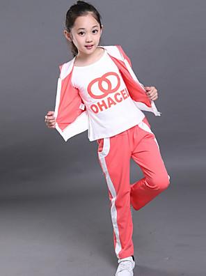 Girl's Cotton Spring/Autumn Tracksuit Fashion Hoodies Sweatshirt Kids Three-piece Set
