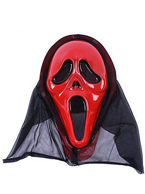 Halloween Props / Maškarní Duch Festival/Svátek Halloweenské kostýmy Červená Tisk Maska Halloween Unisex Latex