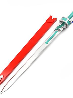 Våben / Sværd Inspireret af Sword Art Online Asuna Yuuki Anime Cosplay Tilbehør Sværd Sort / Blå Træ Kvindelig
