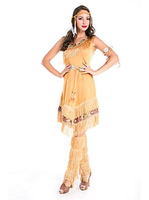 Fantasias de Cosplay / Festa a Fantasia Rainha / Fantasias Egípcias Festival/Celebração Trajes da Noite das Bruxas Amarelo Cor Única