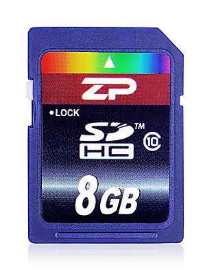 zp 8GB classe 10 SD / SDHC / sdxcmax číst speed80 (mb / s) max write speed20 (mb / s)