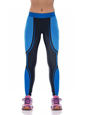 מכנסיים יוגה תחתיות נושם / דחיסה טבעי מתיחה בגדי ספורט כחול לנשים ספורטיבי® יוגה / פילאטיס