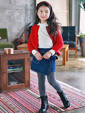 Girl's Casual/Daily Solid JeansCotton Summer / Winter / Spring / Fall Blue