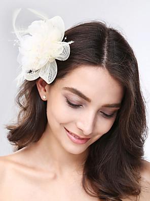 נשים נוצה / טול / רשת כיסוי ראש-חתונה / אירוע מיוחד קישוטי שיער חלק 1
