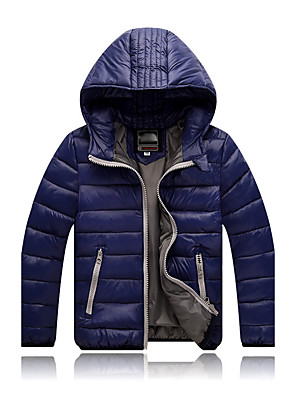 Boy's Casual/Daily Solid Down & Cotton PaddedSpandex Winter / Fall Black / Blue / Green / Orange / Red / Yellow