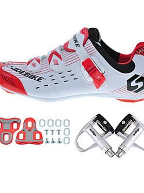 Obuv na cyklistiku Unisex Outdoor / Silniční kolo Tenisky Tlumení / Polstrování Bílá / Červená-sidebike