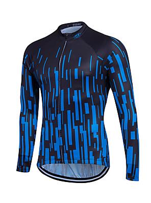 Esportivo Camisa para Ciclismo Homens Manga Comprida Moto Respirável / Materiais Leves / Bolso Traseiro / Redutor de Suor / Confortável