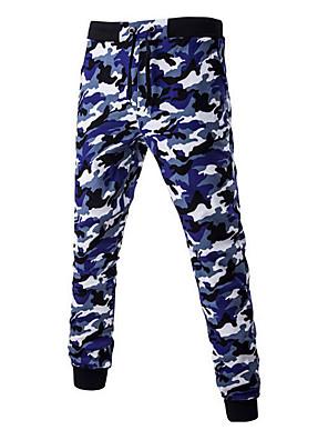 Men's Camouflage Casual / Sport SweatpantsCotton Blue / Brown / Gray