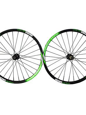 "Draadband-27.5""-Mountainbike-Wielsets(Zwart / Groen,Full Carbon)"