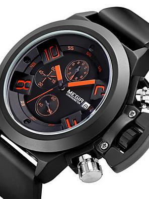 MEGIR®Brand Men's Popular Watches Date Chronograph Sport Watch Men Guaranteed Military Watch Silicone Wristwatch Fashion Cool Watch Unique Watch