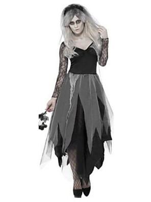 Cosplay Kostýmy / Kostým na Večírek Duch Festival/Svátek Halloweenské kostýmy Černá Jednobarevné Šaty / Více doplňků / Doplňky do vlasů