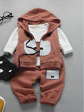 Boy's Casual/Daily Print Clothing SetCotton Spring / Fall Blue / Brown