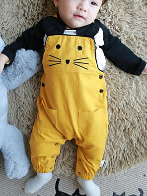 Baby Casual/Daily Animal Print Clothing Set-Cotton-Spring / Fall-Orange / Yellow