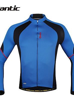 SANTIC® חולצת ג'רסי לרכיבה לגברים שרוול ארוך אופניים נושם / ייבוש מהיר / עמיד אולטרה סגול / חדירות ללחות / תומך זיעה / קרם הגנהג'קט /