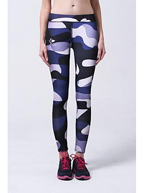 מכנסיים יוגה תחתיות נושם / רך / נוח טבעי מתיחה בגדי ספורט כחול / פוקסיה לנשים ספורטיבי יוגה