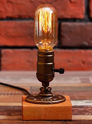 edison bulbo candeeiros de mesa do vintage tubulação de água lamparina luz da mesa personalizado e27 110v-220v -fj-dt2x2-039b0