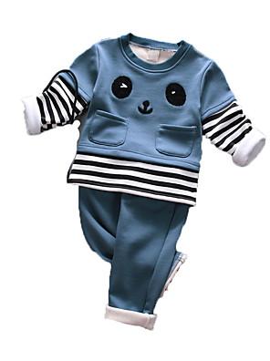 Boy's Casual/Daily Print Clothing SetCotton Winter Black / Blue / Green / Orange