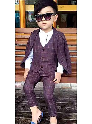 חליפה ובלייזר יום יומי\קז'ואל משובץ כותנה אביב סגול הילד של