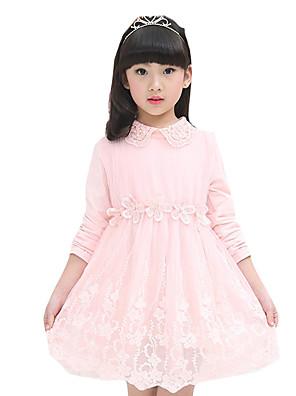 Dívka je Jdeme ven Jednobarevné Léto Šaty Nylon Růžová