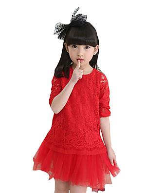 Dívka je Šifon Běžné/Denní Jednobarevné Léto Šaty,Dlouhý rukáv