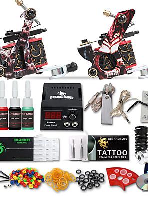 dragonhawk® starter tatovering kit 2 maskiner