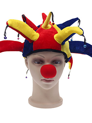 Klobouky Červená Polyester Cosplay doplňky Halloween / Karneval