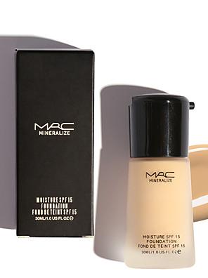 1 Foundation Våd / Mineral Khaki Dekning / Blegende / Olie kontrol / Længerevarende / Concealer / Naturlig Ansigt Tilgængelig Farve