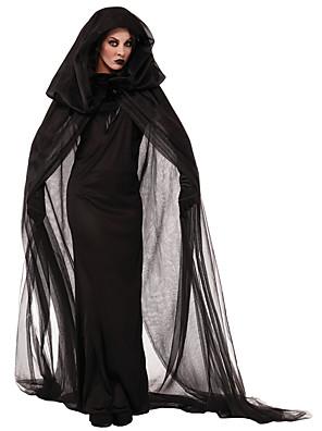 Cosplay Kostýmy / Přehoz Čaroděj/Čerodějnice Festival/Svátek Halloweenské kostýmy Černá Tisk Sukně / Přehoz Halloween Bavlna