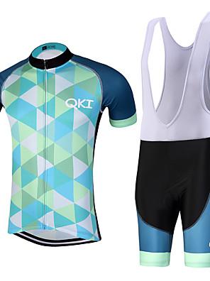 ספורטיבי חולצת ג'רסי ומכנס קצר ביב לרכיבה לגברים שרוול קצר אופנייםנושם / ייבוש מהיר / עיצוב אנטומי / רוכסן קדמי / רצועות מחזירי אור / כיס