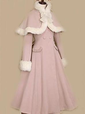 Casaco Doce Princesa / Elegant Rosa Lolita Acessórios Casaco Cor Única / Laço Para Feminino Veludo