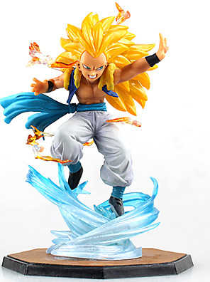 נתוני פעילות אנימה קיבל השראה מ Dragon Ball קוספליי אנימה אביזרי קוספליי דְמוּת צהוב PVC