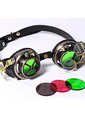 Óculos Vermelho / Verde / Preto e Dourado Pele Acessórios de Cosplay Natal / Carnaval