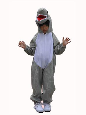 Kigurumi פיג'מות Shark /סרבל תינוקותבגד גוף פסטיבל/חג הלבשת בעלי חיים Halloween אפור טלאים טרילן תחפושות קוספליי ל ילדהאלווין (ליל כל