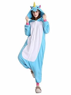 Kigurumi Pyjamas Pegasus Festival/Højtider Animal Nattøj Halloween Lyserød / Blå Dyremønster Velvet Mink Kigurumi ForUnisex / Kvindelig /