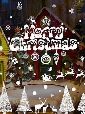Kerstmis / Woorden en Citaten / Feest Wall Stickers Vliegtuig Muurstickers Decoratieve Muurstickers,PVC MateriaalVerwijderbaar /