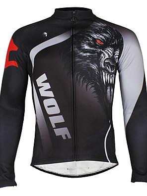 PALADIN® חולצת ג'רסי לרכיבה לגברים שרוול ארוך אופנייםעמיד למים / נושם / עמיד / בטנת פליז / מבודד / דחיסה / רצועות מחזירי אור / כיס אחורי