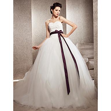 Lanting Bride® Ball Gown Petite / Plus Sizes Wedding Dress - Classic & Timeless / Elegant & LuxuriousWedding Dresses in Color / Vintage