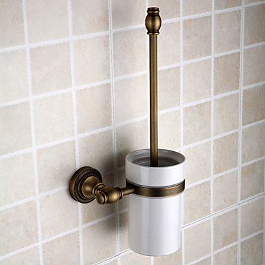 Buy Toilet Brush Holder Antique Brass Wall Mounted 120 x 150 430mm (4.72 5.90 16.9 inch)