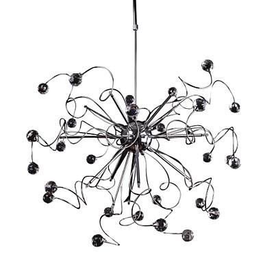 Lámpara chandelier moderna de cristal con 15 bombillas   meade ...