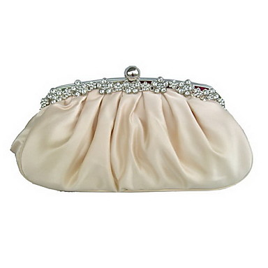 Women Silk Event/Party Evening Bag White Beige Pink Purple Gold Red Black Champagne Ivory