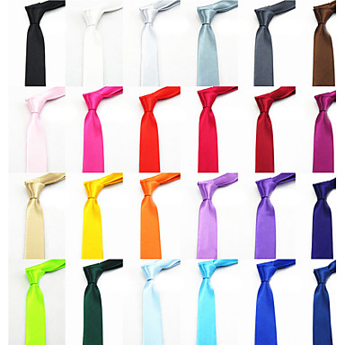 Men's Casual Solid Color Narrow Necktie Christmas Gifts