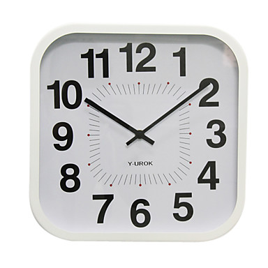 """11.75""""H Stylish Square Wall Clock in Metal"""