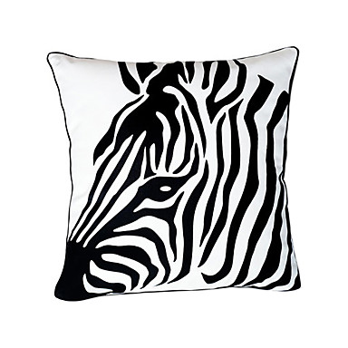 Buy Zebra Head Cotton Decorative Pillow Cover