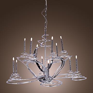 Modernas l mparas de ara a de acero inoxidable con luces - Lamparas arana modernas ...