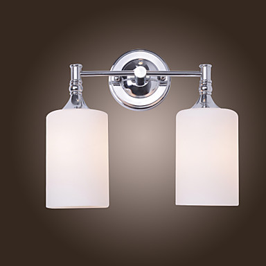 White Box Wall Lights : Wall Light with 2 Lights in Warm White Shade 240407 2016 USD 89.99