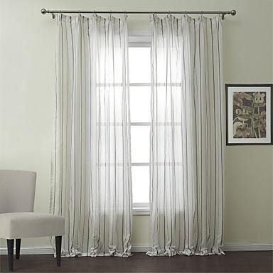 Due pannelli di lino misto cotone jacquard della banda classica tenda pura - Radiateur sous fenetre quel rideau ...