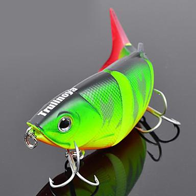 "1 pcs Hard Bait / Minnow / Fishing Lures Hard Bait / Minnow Green / Orange / Yellow / Blue 10 g/3/8 oz. Ounce,80 mm/3-1/4"" inch,Hard"